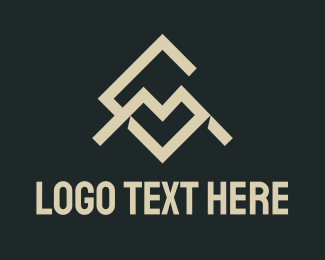 M - Geometric Letter C & M logo design