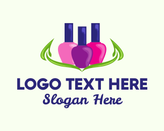 Nail Art - Colorful Nail Polish logo design