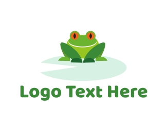 Pond - Smiling Frog logo design