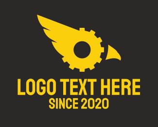 Air Freight - Industrial Eagle Gear logo design