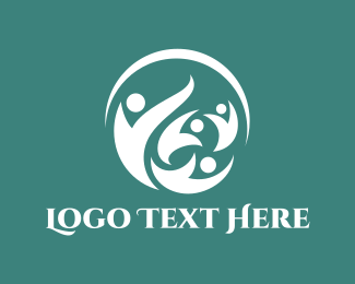 Humanity - People Circle logo design