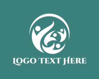 Recruitment - People Circle logo design