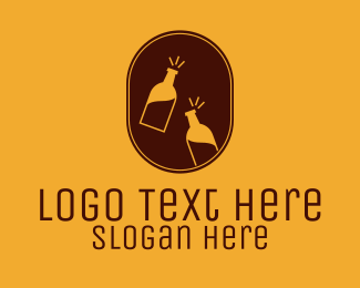 Beer Bottle - Classy Bottle Winery logo design