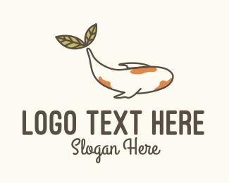 Serenity - Koi Fish Leaf logo design