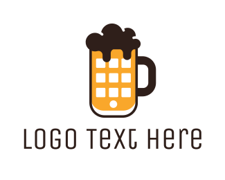 Gastro - Beer Phone logo design