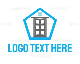 Build - Door & Pentagon  logo design