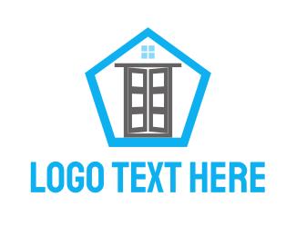 Pentagon - Door & Pentagon logo design