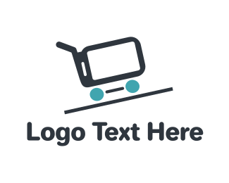 Trolley - Phone Cart logo design