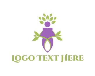 Silent - Nature Character logo design