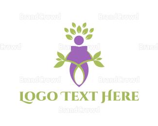 Botanical - Nature Character logo design