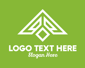 Real Estate - White Triangle Roof Construction  logo design
