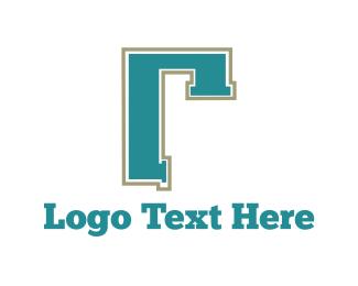 Pipe Letter R Logo