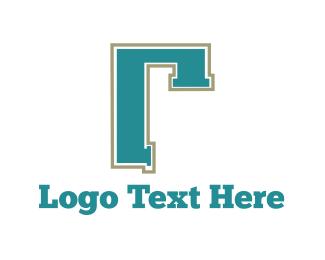 Faucet - Pipe Letter R logo design