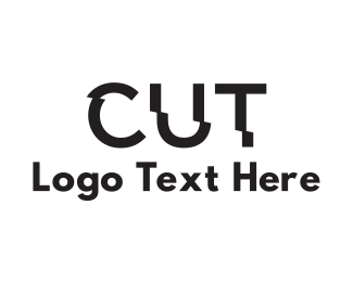 Text - Cut Text logo design