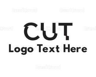 Text - Cut Text logo design
