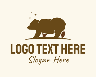 Brown Bear - Brown Bear Wilderness logo design