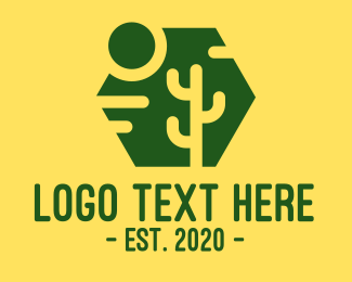 Nevada - Hexagon Cactus logo design