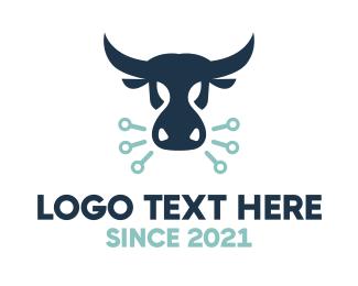 Technical - Angry Bull logo design