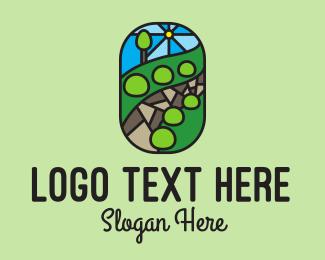 Scenery - Garden Landscape Mosaic  logo design