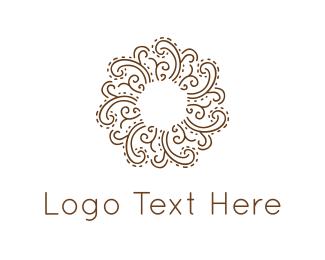 Swirl - Floral Circle logo design