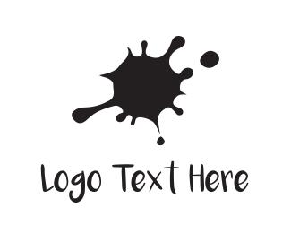 Spot - Black Ink  logo design