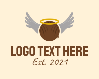 Winged - Wing Coconut Angel logo design