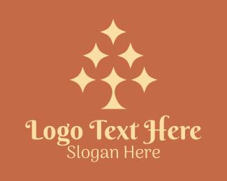 Heavens - Astrological Sparkle Tree logo design