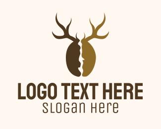 Antlers - Deer Antlers Cafe logo design