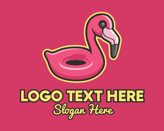Plastic - Flamingo Pool Float  logo design