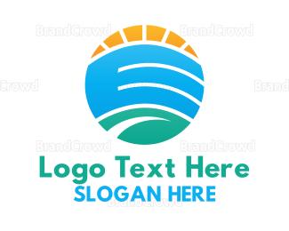 Creek - Landscape Circle logo design