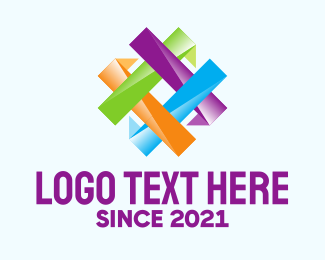 Social Media - Colorful Hashtag Pattern logo design