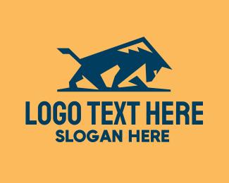 Coyote - Wild Blue Bull logo design