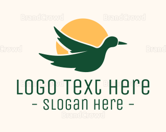 Small - Duck Sunset logo design