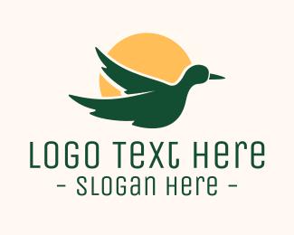 Duck - Duck Sunset logo design