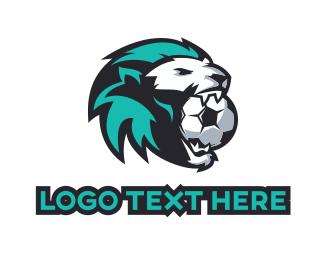 Volleyball - Soccer Lion Sport Mascot logo design