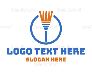 Cleaning Services - Cleaning Broom logo design