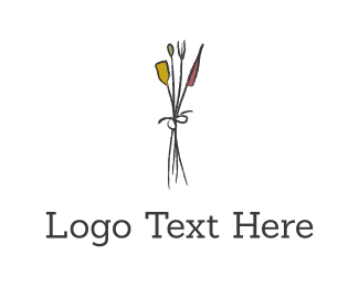 Tulip - Flower Bouquet logo design
