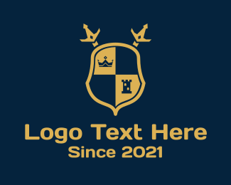 Security - Sword Shield Crest logo design