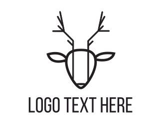 Artistic - Abstract Deer logo design