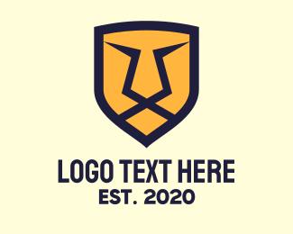 Golden - Golden Lion Shield logo design