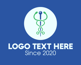 Medical Consultation - Medical Stethoscope Caduceus logo design