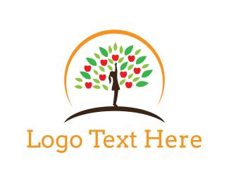 Girl - Apple Tree logo design