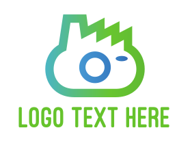 Camera - Green Camera logo design