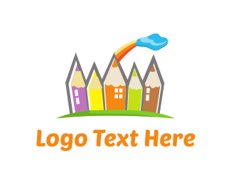 Yellow Orange - Pencil Town logo design