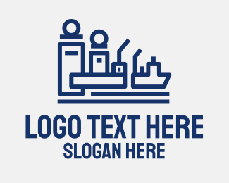 Harbor - Abstract Shipping Port  logo design