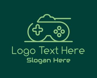 War Game - Green Gamepad Tank logo design