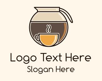 Carafe - Coffee Carafe Cup logo design