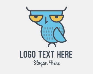 Big Eyes - Sleepy Owl logo design