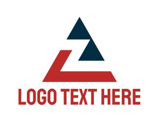 Letter Z - Triangle Letter Z logo design