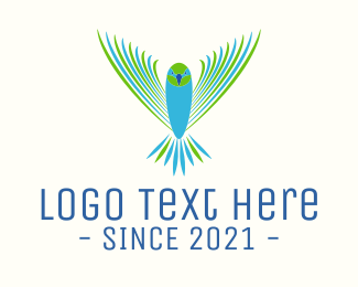 Lovebird - Flying Aviation Bird logo design
